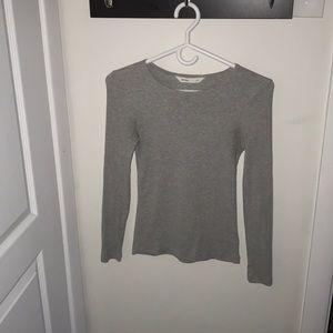Grey ribbed sweater